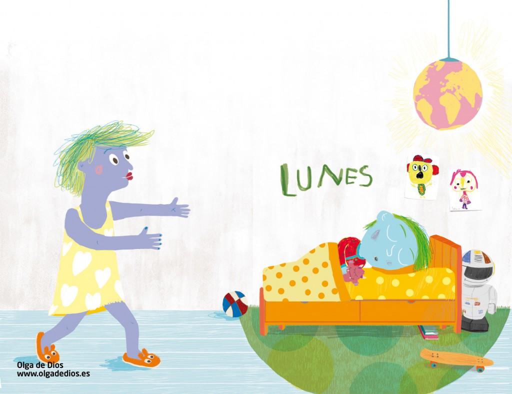 """Ilustración de Olga de Dios para el libro """"Ataques de..."""""""
