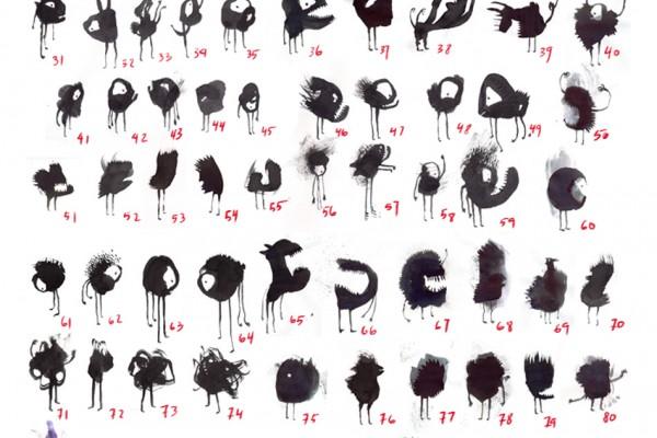 100% INK. Colección de personajes