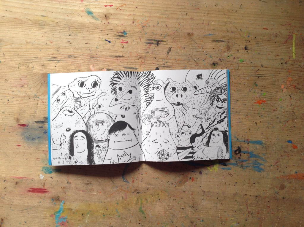 Jhh Fanzine 5. Personajes influyentes es la ilustración de Olga de Dios.